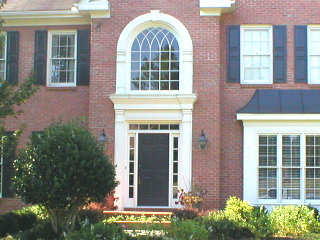 Foyer Window Quest : Six panel entrance door with sidelites and transom