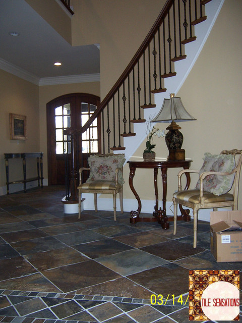Traditional Foyer Tiles : Slate tile entryway traditional entry other metro