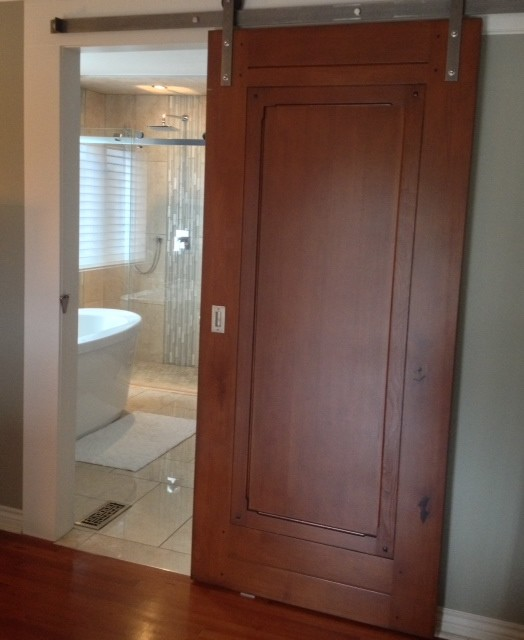 Sliding doors traditional entry other metro by for Sliding entrance doors
