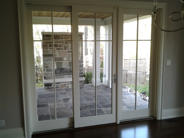 Sliding French Doors Transitional Entry Toronto By