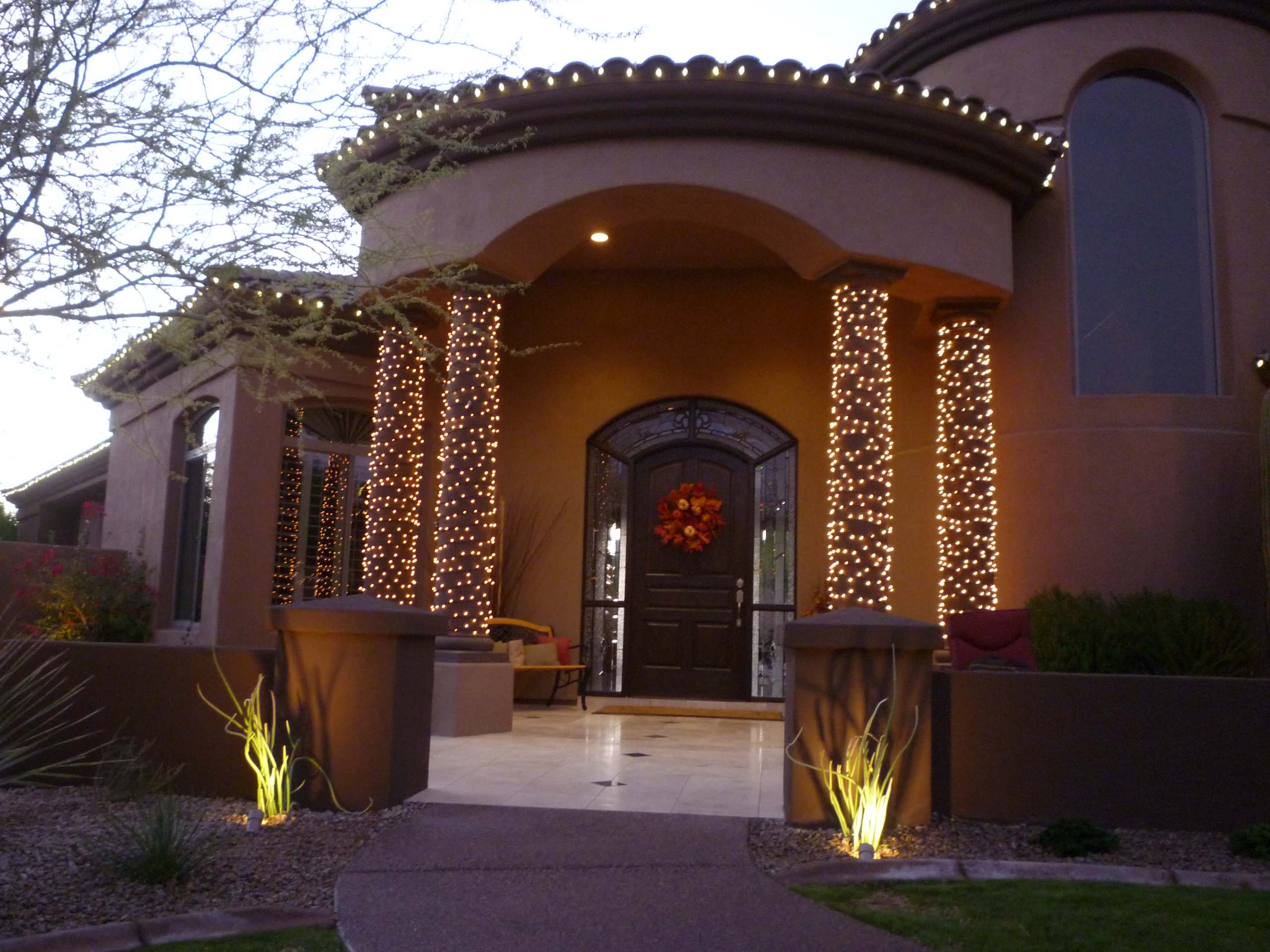 Slipper Plants at Front Entry Columns