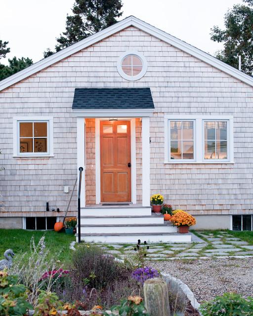 Small Beach House Renovation Coastal Entrance Portland Maine