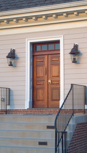 Genial Solid Mahogany Wood Front Door And Transom Traditional Entry