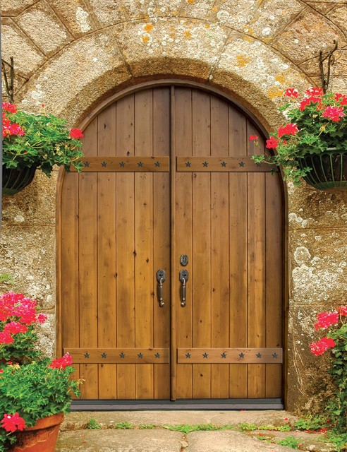 Solid wood entry doors mediterranean entry tampa for Hardwood exterior doors