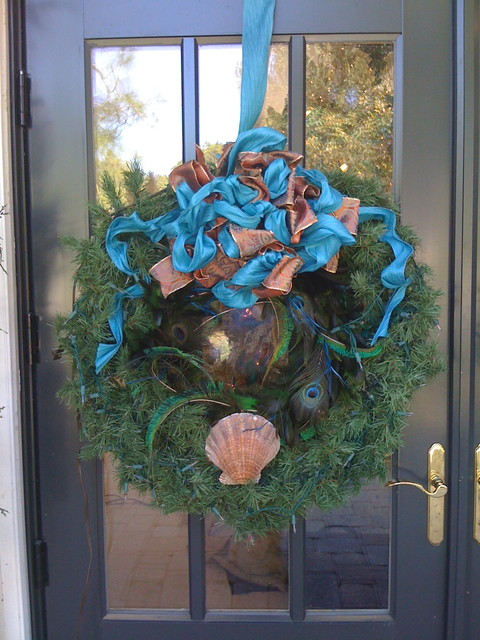 South Florida style christmas tropical-entry