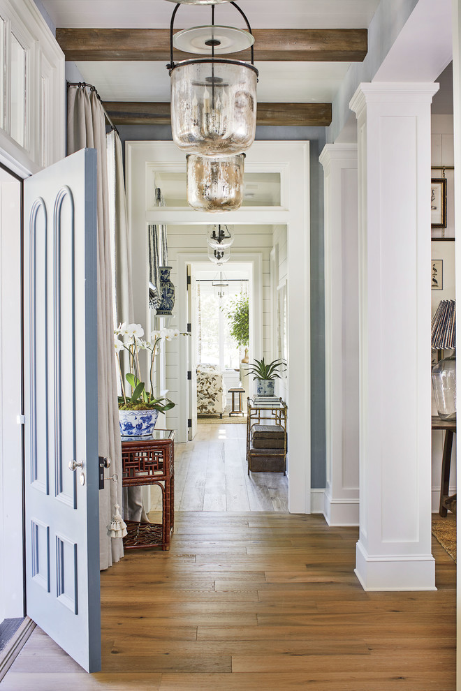 Example of a beach style entryway design in Jacksonville