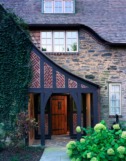 Spacious serene cottage traditional entry philadelphia by cherokee construction - Serene traditional cottage in natural theme ...