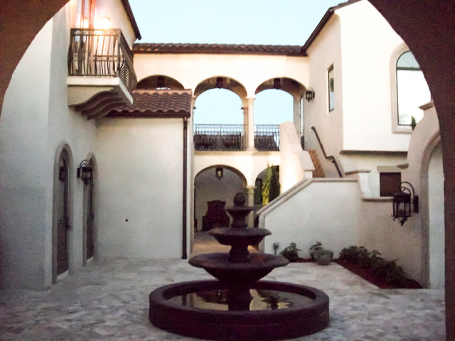 Spanish colonial mediterranean entry other metro for Spanish colonial home designs