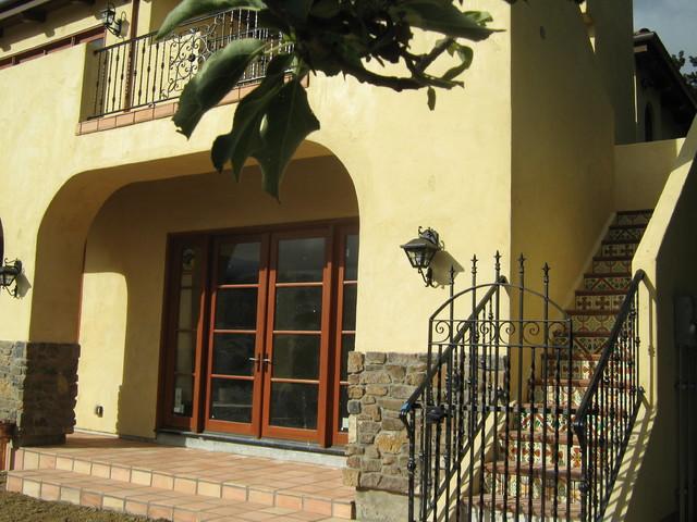 Spanish Custom Home | Via Builders Inc mediterranean-entry