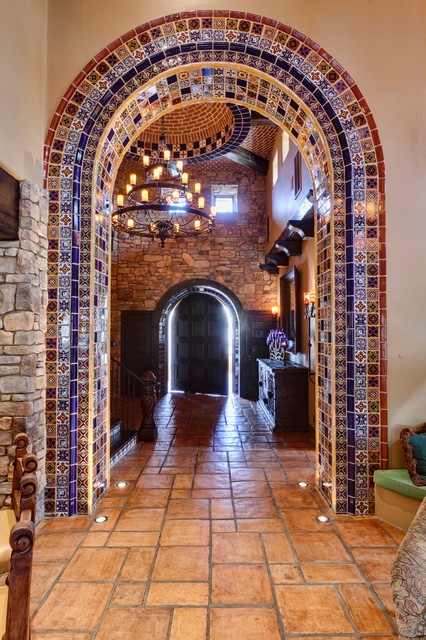 Spanish delight mediterranean entry by professional for Interior decorators design and consultants