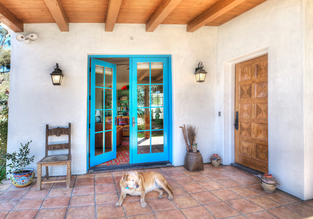 Spanish Hacienda Homestead Southwestern Entry Santa