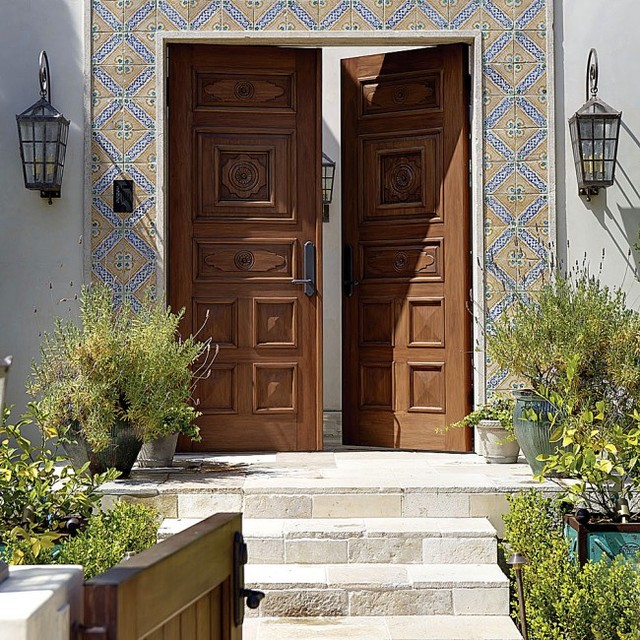 Spanish Mediterranean Entry Door By Rocky Mountain Hardware