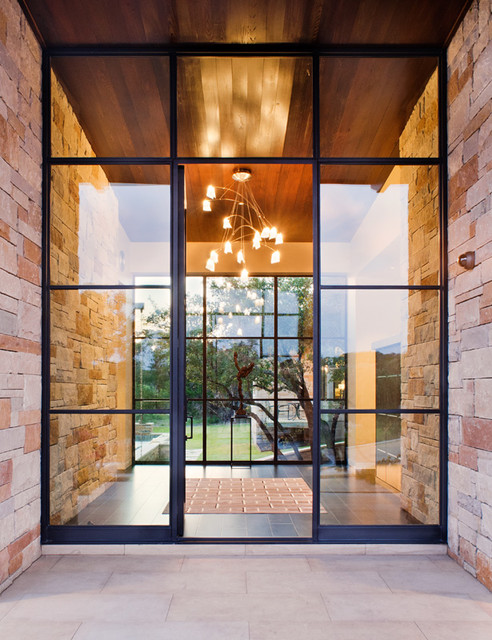 Spanish Oaks Residence contemporary-entry