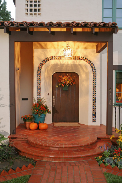Spanish Revival Restoration Mediterranean Entry Other Metro also Soft Mediterranean Homes together with House Plans Innovative New House Plans From The House Designers moreover Mexican Style Interior Design besides Spanish Revival Exterior. on hacienda exterior designs