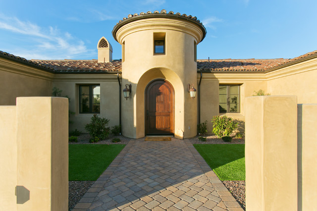 Spanish Style Estate Front Doortraditional Entry San Go