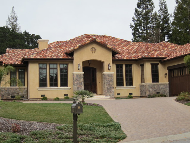 Spanish style outdoor entry home design inside - Mediterranean house floor plans paint ...