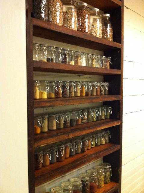 Spice rack eclectic entry