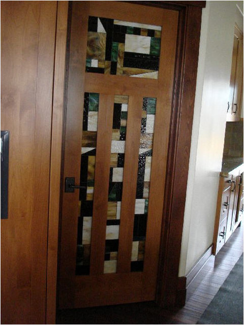Stained Glass Doors Traditional Entry Charlotte