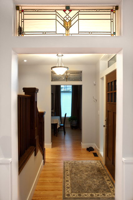 Stained Glass Doorway Craftsman Entry Edmonton By
