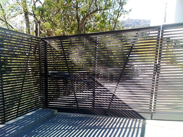 Stainless steel gate motor hollywood hills modern