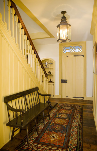 Starry Night Farm Stair Hall Farmhouse Entry
