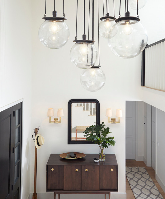 Statement making lighting contemporary entrance
