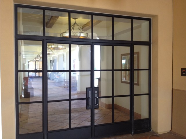 steel doors and windows entry