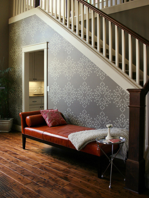 Stenciled Wall eclectic-entry
