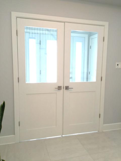 Shaker Style Glass Doors
