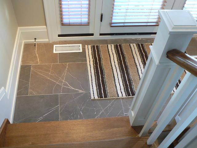 Stone floor foyer for Flooring ideas for foyer