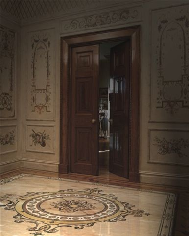 Stone Floor Medallion Modern Entry Other Metro By