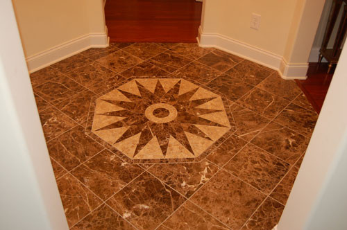 Stone Mosaic Foyer Traditional Entry Charleston By