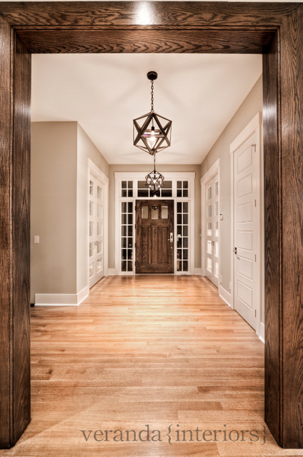 Stunning foyer contemporary-entry