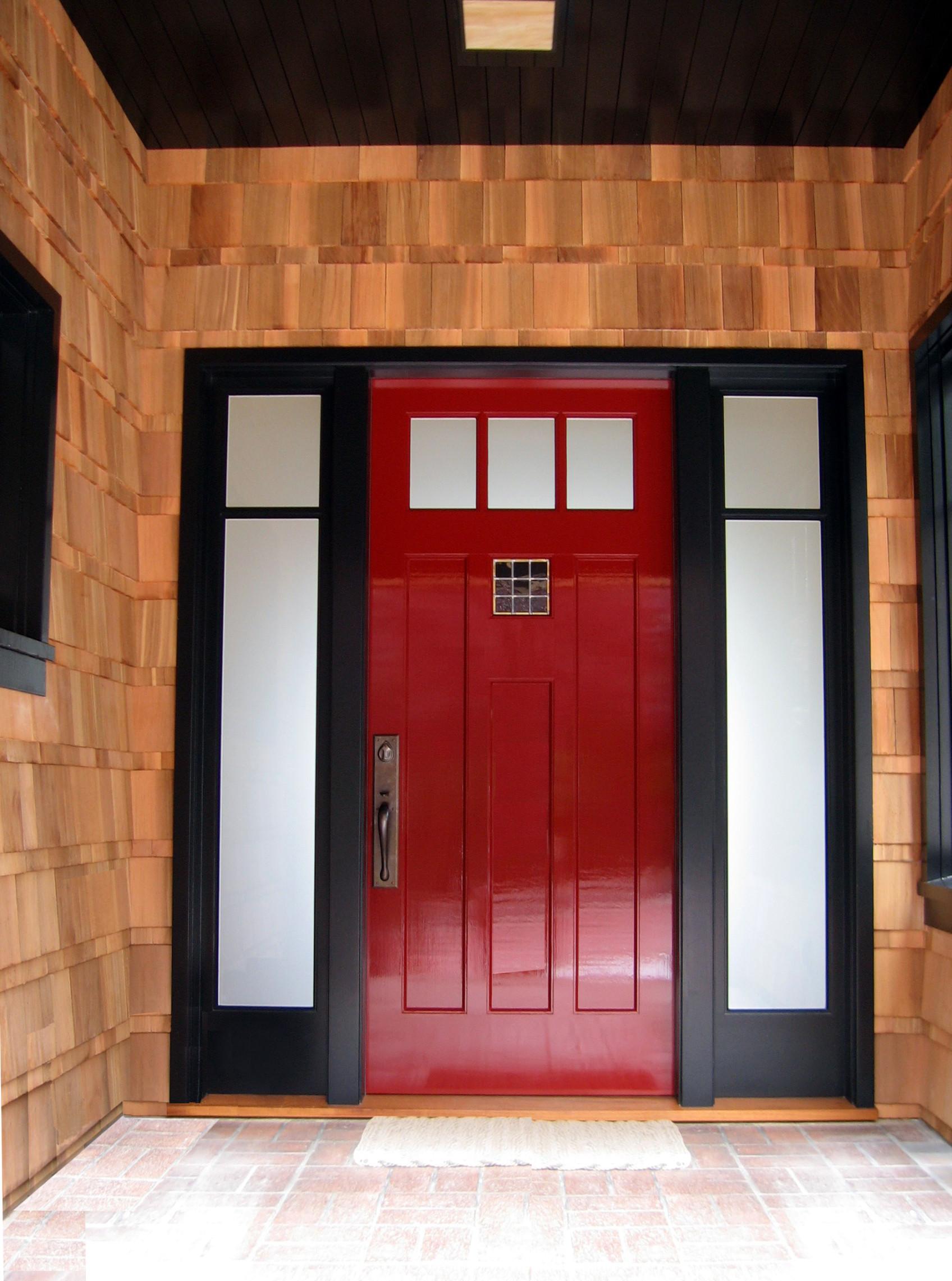 Stunning red front door