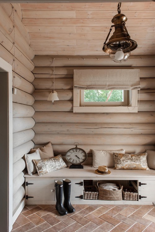 10 Examples Of Log Walls Town amp Country Living