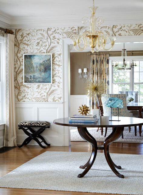 Summit stunner traditional entry new york by jules for Dining room entrance ideas