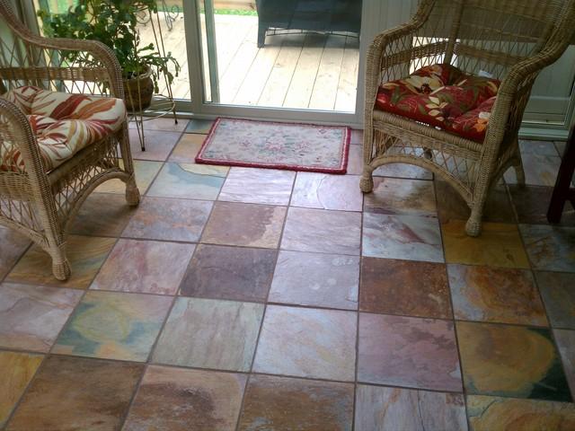 Sunroom floor traditional entry burlington by for Sunroom tile floor ideas