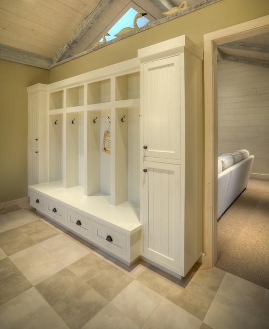 Bunk Room Built In Cubbies