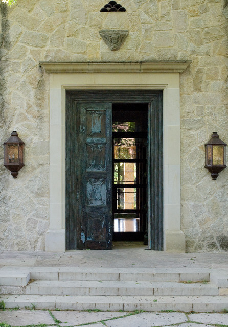 mediterranean entry by Susan Newell Custom Home Builder, Inc.