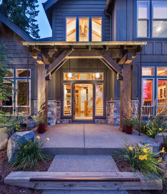 Sw Portland Custom Home Rustic Entry Portland By