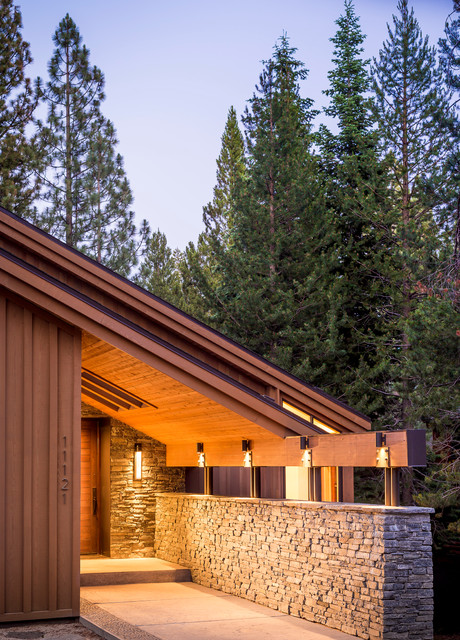 Tahoe donner residence transitional entry other for Tahoe architects