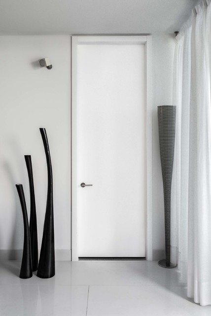 tall white modern bedroom door - modern - entry - miami -
