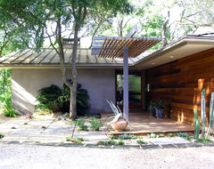 Taylor Slough Creek House_Entry midcentury-entry
