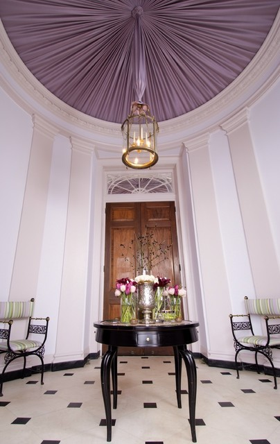 Tented Ceiling Entry Traditional Entry New York By