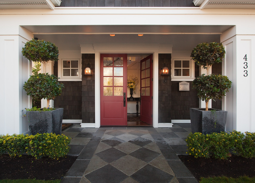 The Gambrel Roof Home   Traditional   Entry   Seattle   By ...