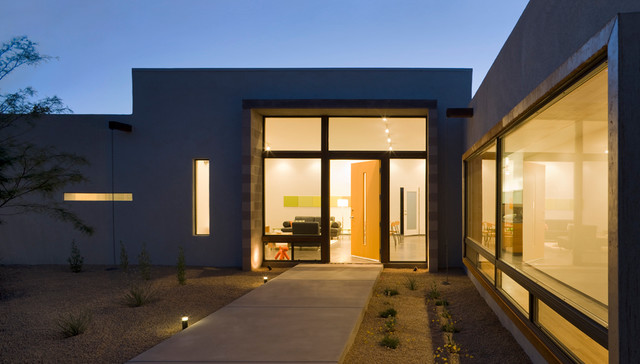 The Six Courtyard Houses modern-entry