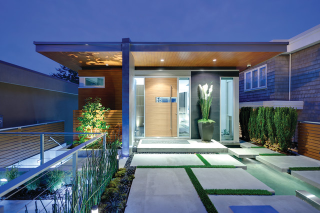 The Wave House - Contemporary - Entry - Vancouver - by kbcdevelopments