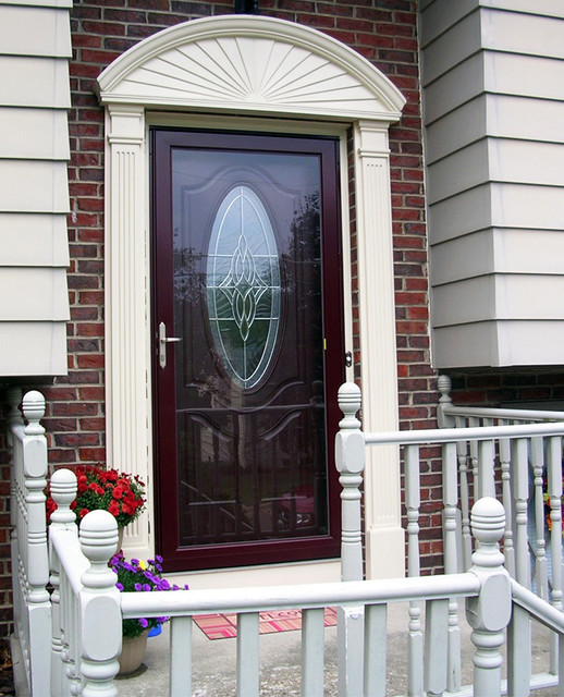 THERMA TRU Entry Door Systems with Storm Door - Modern - Entry ...