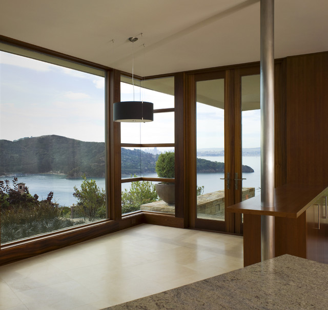 Tiburon Residence - with SF Bay view modern entry