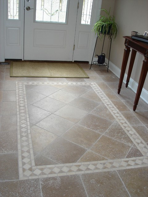 tiled foyer